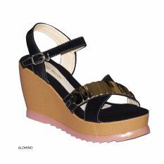 Aldhino Sepatu Sandal Wedges Wanita PN-17 - Hitam