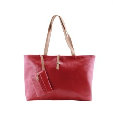 Allwin Hot Korean Lady Women Hobo PU Leather Messenger Handbag Shoulder Bag Red