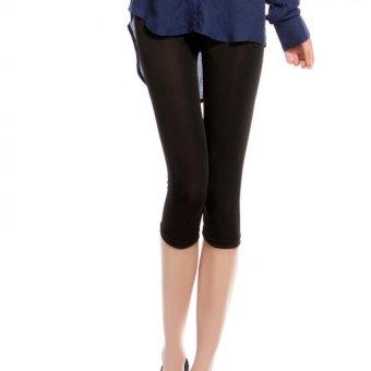 Amart Celana Legging Wanita Musim Panas Dingin Es Selembut Sutra Berkilau Celana Kapri