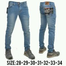 AN Celana Jeans Panjang Pria Skinny Hight Quality [Light Blue Wosh]