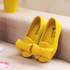 Anak-anak perempuan Princess datar sepatu kets sepatu flat cewek manis anak Loafers ukuran 21-30 -Intl