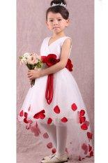 Anak Perempuan Putri Kelopak Bunga Fantasi Fancy Dress Gaun Pesta Formal