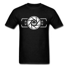 AOSEN FASHION Custom Printed Men's Camera Viewfinder T-Shirts Black