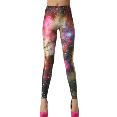 AOXINDA New Printed Fashionable Women's Star Digital Printed Stretch Leggings Pencil Tight Pants - Intl