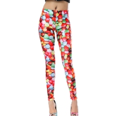 AOXINDA New Spring Printed Fashionable Women's Printed Stretch Leggings Pencil Tight Pants - Intl - Intl
