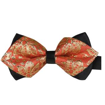 AOXINDA Tied Bow Ties Necktie Bowtie Tie Knot Mens Paisley Jacquard Pre-Tied Bow Tie Tuxedo Wedding Party Bowtie - Intl