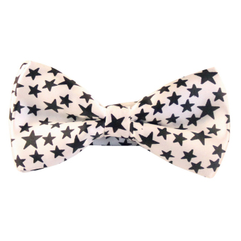 AOXINDA Tied Bow Ties Necktie Bowtie Tie Knot Men's Stars Patterns Self-tie Tuxedo Bow Tie - Intl