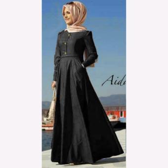 Aquinn Labelle - Dress Maxi Muslim Wear Nisa (Black)