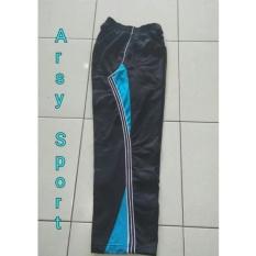 arsy collections celana training model lis 3 hitam turkis