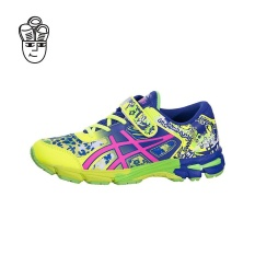 Asics GEL-Noosa Tri 11 (Preschool)(Safety Yellow / Pink Glow-Asics Blue) c604n0720 - intl