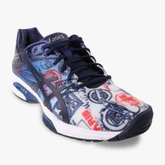 Asics Gel-Solution Speed 3 L.E Paris Men's Tennis Shoes - Navy