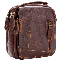 Astar New Men's Genuine Leather Briefcase Business Messenger Shoulder Bag (Brown) - Intl