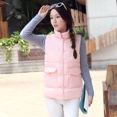 Autumn And Winter Women New Korean Version Of Cotton Vest (Pink) - Intl