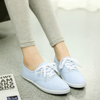Autumn Fashion Women and Girl Classic Canvas Shoes Flat Shoes Loafers Slip-Ons Brogues &