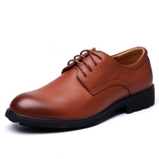 Autumn New Men's Business Casual Leather Shoes (Yellow) - Intl