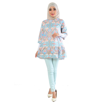 Ayako Fashion Blouse Batik Rose 402 - LE (Soft Blue)