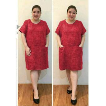 Ayako Fashion Dress Wanita Kaka Jumbo - (Red)