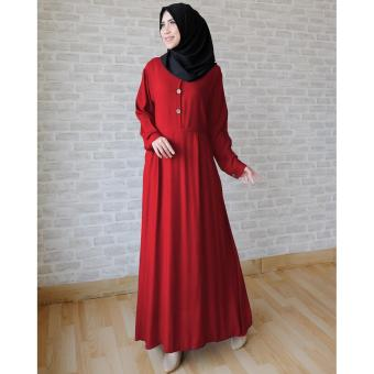 Ayako Fashion Long Sleeve Maxi Hilda (Maroon)