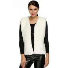 AZONE ACEVOG Women Fashion Sleeveless Casual Faux Fur Vest Warm Coat Outwear (White) - Intl