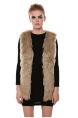 AZONE Faux Fur Vest Gilet Vset Jacket Mid-long Outwear Waistcoat (Intl)
