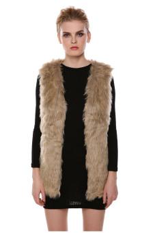 AZONE Faux Fur Vest Gilet Vset Jacket Mid-long Outwear Waistcoat