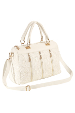 Azone Women Bags Fashion Vintage Lace Bag Shoulder Bag Handbag Women Messenger Bag (White)