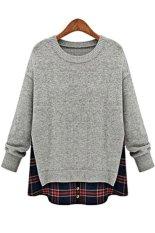 Azone Women Casual Long Sleeve Knitwear Jumper Cardigan Jacket Sweater Coat (Grey) - Intl