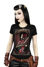 Azone Women's Colored Painting Printing Short Sleeve Stretch Slim Fit Tops T-shirt 15 Colors (Red) - Intl
