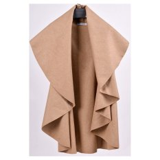 AZONE Women's Wool Shawl Poncho Wrap Scarves Coat (Camel)