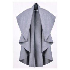 AZONE Women's Wool Shawl Poncho Wrap Scarves Coat (Gray)