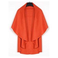 Azone Women's Wool Shawl Poncho Wrap Scarves Coat (Orange)
