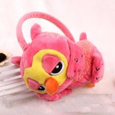 Baby Talk Owl Cute Earmuff - Penutup Telinga untuk Bayi sampai Dewasa - Soft Pink
