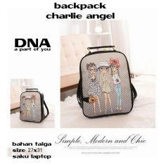 Backpack Women / Tas Ransel Wanita Charlie Angel (Black)