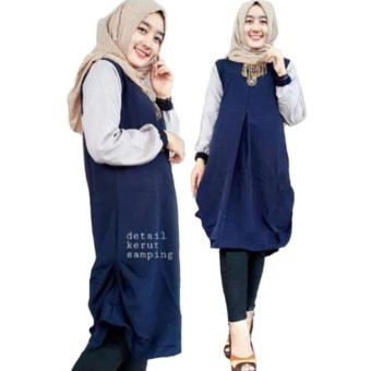 Baju Atasan - Blouse Wanita - Baju Muslim - Blus Muslim - Milla Tunik d40a1abaf7