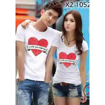 Baju Couple / Kaos Couple / Baju Pasangan / Soulmate love forever White