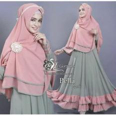 Baju Gamis / Baju Muslim Bella Syari'i Green