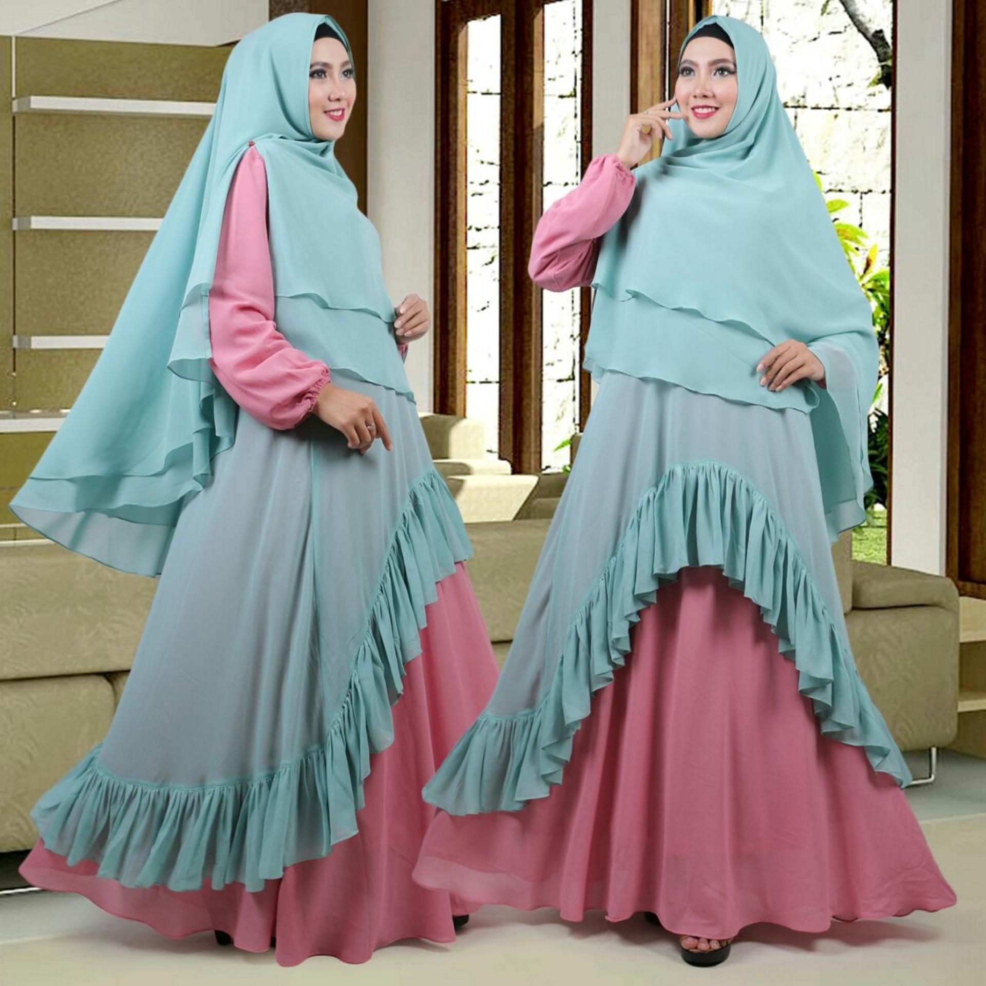 Baju Gamis Syari Model Terbaru Cantik Mewah Dan Modis Lazada