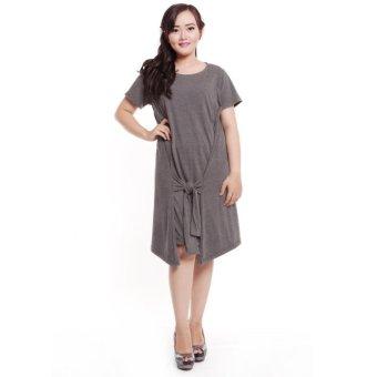 Baju Island Lila Dress Hamil dan Menyusui - Grey