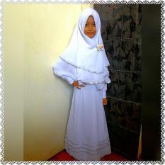 Baju Muslim Gamis Anak Perempuan Putih Hitam Lucu Simple