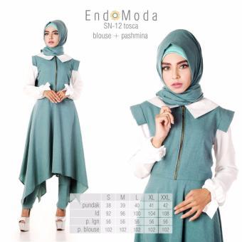 Baju Original Endo Moda Blouse Atasan SN-12 Kaos Wanita Baju Muslim Tunik Kemeja Kaos Tosca