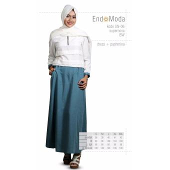 Baju Original Endo Moda SN-06 Dress Wanita Baju Muslim Modern Gamis Katun  Supernova Premium a5868c0544