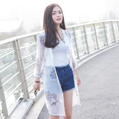 Baju Pelindung Terik Matahari Wanita Lengan 3/4 Model Setengah Panjang Aneka Warna Sifon (