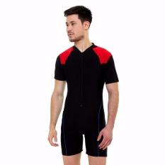 Baju Renang Dewasa-DV-DW-007-Hitam-Merah