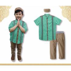 Baju Setelan Anak Laki / Baju Koko Lengan Pendek / Baju Muslim Anak