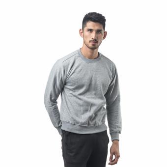 Bajukitaindonesia Jaket Basic Sweater Polos ABUMUDA - M-XL