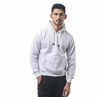 Bajukitaindonesia Jaket Hoodie Jumper Polos PUTIH - M-XL