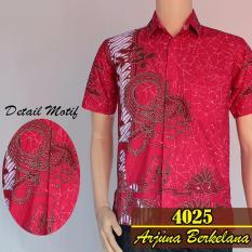 Baladewa Batik Kemeja Wayang Arjuna 4025 Merah