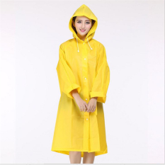 Bang Eva Resin Non-Toxic Lightweight Transparent Rain Jacket Ponchoraincoat M (Yellow)