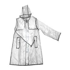 Bang Women's Rain Coat Waterproof Transparent Hooded Fashion Noveltywhite