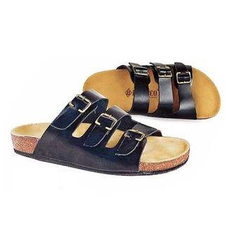 Baricco BRC 384 Sandal Kulit Casual Pria Kulit Asli Modis ( Black )